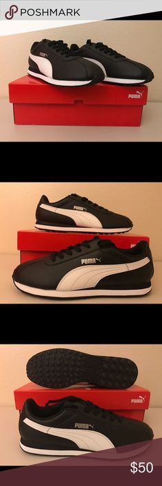 Puma Turin Black/White 11.5 New in Box! These are new, never worn and still in original box. Puma Shoes Sneakers
