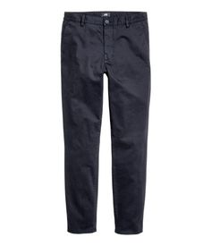 Wardrobe Essentials For Guys: Chinos - should be no longer than 1/4 break (H&M skinny fit)