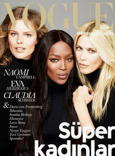 Naomi Campbell, Eva Herzigova & Claudia Schiffer for Vogue Turkey November 2014