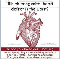 Which congenital heart defect is the worst? The one your loved one is battling.