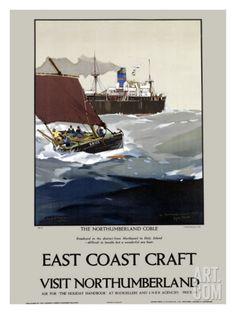 East Coast Craft, Northumberland Giclee Print by Frank Mason at Art.com
