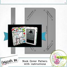 Nook cover pattern with instructions Nook Cover, Fabric Yarn, Sewing Projects, Arts And Crafts, Crafting, Tutorials, Craft Ideas, Scrapbook, Holidays