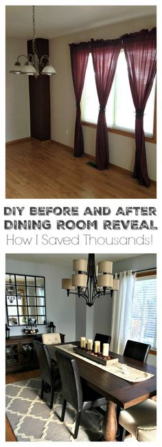 Remodeling a dining room doesn't have to cost a fortune. I saved over 63% off retail on this transformation!