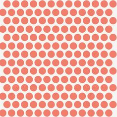 Birch Organic Fabric Modern Basics in Coral Dots by TrulyBella, $4.15
