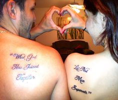 Couple tattoo #love #God