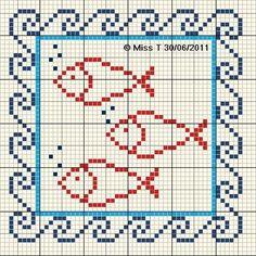 Ψαράκια για κέντημα / Fish cross stitch patterns