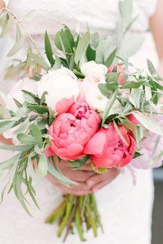 Textural Wedding Bridal Bridesmaid Bouquet Flowers with Peony & Eucalyptus Coral Charm Peony, Coral Peonies, Peonies Bouquet, Floral Bouquets, Bridal Bouquets, Purple Bouquets, Bridesmaid Bouquets, White Peonies, Bridesmaids