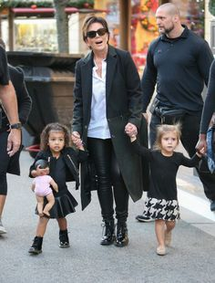 Kris Jenner with granddaughters North West and Penelope Disick. Awwww!