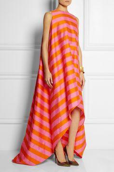 Emilia Wickstead Mariee striped cotton-blend twill gown NET-A-PORTER.COM