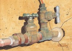 Painting - Plumbing by Ken Powers , Plumbing Drawing, Ap Studio Art, Street Painting, Blowing Bubbles, High School Art, Irish Traditions, Ap Art, Teaching Art, Art Sketchbook