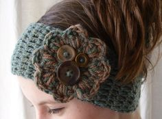 PDF PATTERN Crochet boho winter headband por threemagicsheep