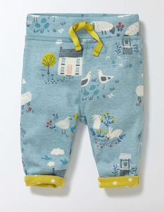 Bottoms Logical Blue Baby Boys Marks And Spencer Elasticated Corduroy Trousers Size Newborn