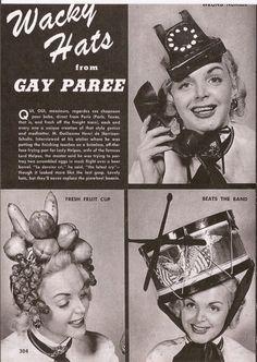 1eab2c086c3  Wacky Hats  wackywednesday Vintage Magazines