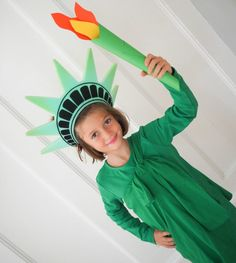 Women/'s Statue de la liberté Costume USA 4th juillet Halloween États-Unis L/'Amérique