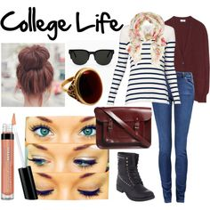 """College Life"" by charliegirlz on Polyvore"