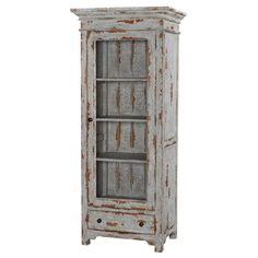 Farmhouse Rustic Cabinet with Chicken Wire Door [BR25392A] - $995.00 : The Painted Cottage, Vintage Painted Furniture