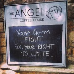 Coffee humour in Lincoln.