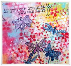 * Rubber Dance Blog *: If You Dream... Journal Page Tutorial