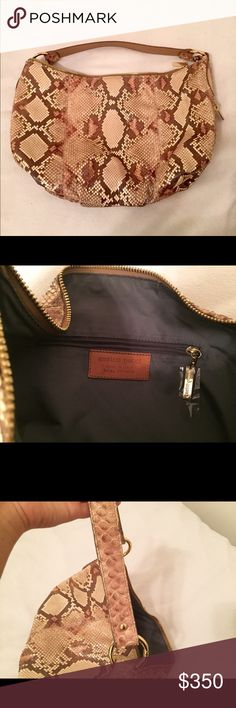 Python bag. Large Python bag made in Italy. Absolutely beautiful Python skin bag. Perfect condition Enrico Pucci Bags