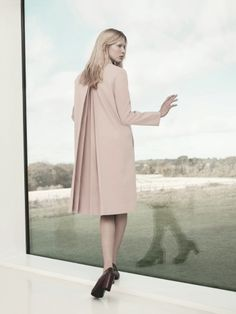 COS SS2013 | box pleat coat & bordeaux pumps