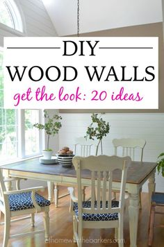 DIY Wood Walls / Get the Look with these 20 great ideas / Shiplap / Wood Planks