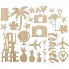 Simple Stories - You Are Here! Wood Veneer @ Scrapbooking Fanatics $8.25