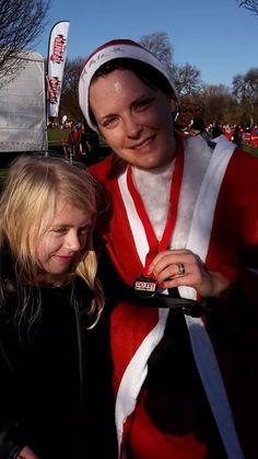 Santa Sarah at the Santa Run 2014