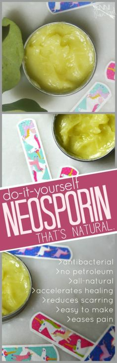 Learn how to make a DIY healing salve that is a safe yet effective alternative to Neosporin. Using natural ingredients like coconut oil and a blend of essential oils, we will make the perfect boo boo cream! Herbal Remedies, Health Remedies, Natural Remedies, Healing Herbs, Natural Healing, Homemade Neosporin, Beauty Recipe, Homemade Beauty, Diy Beauty