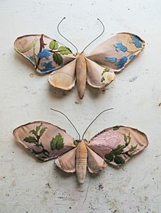 finch-uk.com. Fabric moths with embroidered wings.