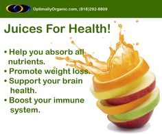 Juices help to absorb all the essential #nutrients!