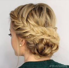 Beautiful fishtail updo