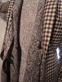I love the mix of check, paisley and tweed