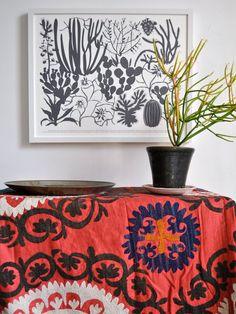 diseño e tela y cuadro organicos Amonita arts