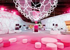 Pretty Pink and White Lounge #eventdecor #furniture #eventprofs