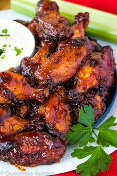 These Honey BBQ Chicken Wings are juicy, tender and flavourful. They're covered in a blend of spices, baked to a crisp and then tossed in the best Honey BBQ Sauce! Honey Bbq Chicken Wings, Barbecue Chicken, Homemade Meat Sauce, Chicken Stuffed Peppers, Chicken Wing Recipes, Chicken Ideas, Cooking Recipes, Vegan Recipes, Smoker Recipes