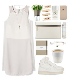 """""""Zen # 2"""" by green-wild ❤ liked on Polyvore featuring NIKE, Rebecca Taylor, Victoria Beckham, Shinola, Miss Selfridge, Eva Solo, Amber Sceats, Korres and Calvin Klein"""