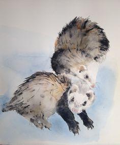 Custom pet portrait  rabbit bunny cat dog bird fish by Kribro, €60.00