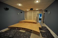 Home Theater Redux: Home Theater: The Riser... DIY Home Theater stadium seating w electric