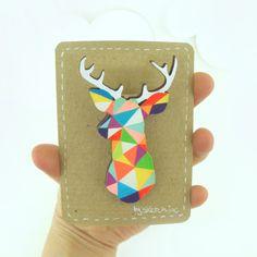 Geometric Deer Brooch Neon 'Stag Head'  http://www.etsy.com/listing/91652948/geometric-deer-brooch-neon-stag-head?ref=fp_treasury_3