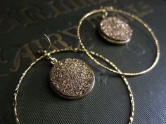 DruzyGold HoopsDruzy Earrings GoldGold Hoop by OneTribeJewelry