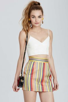 Vintage Moschino Verona Striped Skirt