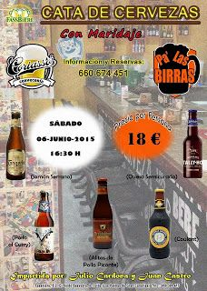 Pa' Las Birras: Cata de Cervezas con Maridaje 6 de junio 2015