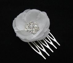 Flower Hair Comb Flower Girl Hair Bride Hair by LoveForeverBridal