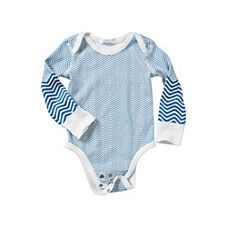 chevron bodysuit from hanna andersson- matching blanket, too....love.