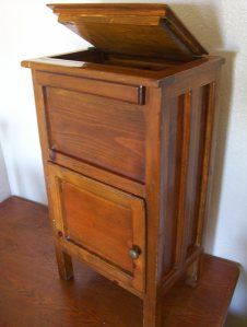 antique ice box | antique ice box early solid pine wood two compartment ice storage ...