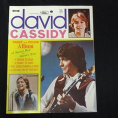 David Cassidy Fan Paint and Color Book Activity Color Photos Partridge Family
