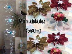 Flores navideños hechas con botellas de plástico. ¡No dudes en ponerte a ello! Todo un reto para los más 'manitas' ...