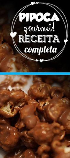 RECEITA COMPLETA PIPOCA GOURMET DE CHOCOLATE. CLIQUE NO PIN E APRENDA PASSO A PASSO COMO FAZER PIPOCA GOURMET DE CHOCOLATE. pipoca, pipoca gourmet, pipoca doce, pipoca gourmet receita, pipoca gourmet embalagem, pipoca gourmet lembrancinha, pipoca gourmet de chocolate, pipoca de chocolate facil, pipoca de chocolate receita #pipoca #pipocagourmetreceita #pipocagourmtembalagem #pipocagourmetlembrancinha #pipoca #gourmet #receita #de #chocolate #docesgourmet #pipocagourmet #pipocadechocolate Sweet Desserts, Delicious Desserts, Home Food, Yams, Finger Foods, Food And Drink, Cooking Recipes, Snacks, Breakfast