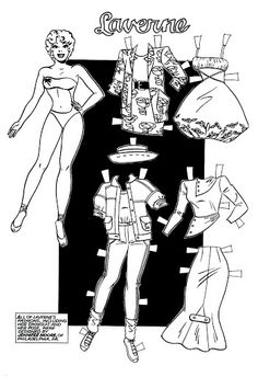 September 1987 Issue 4 California Girls paper doll of Laverne / picasaweb.com