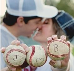 Sooo cute. Engagement photo idea. someday - with pucks :)